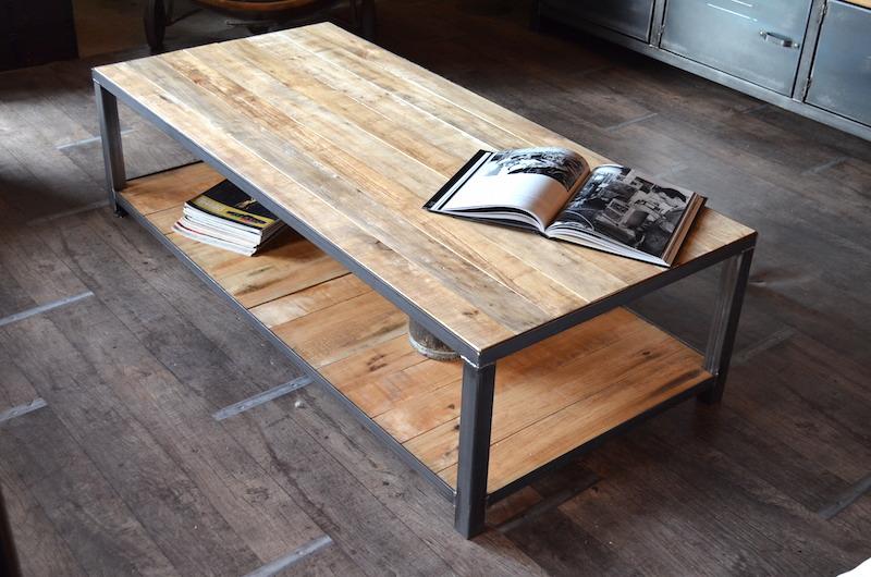 Table basse industrielle palette