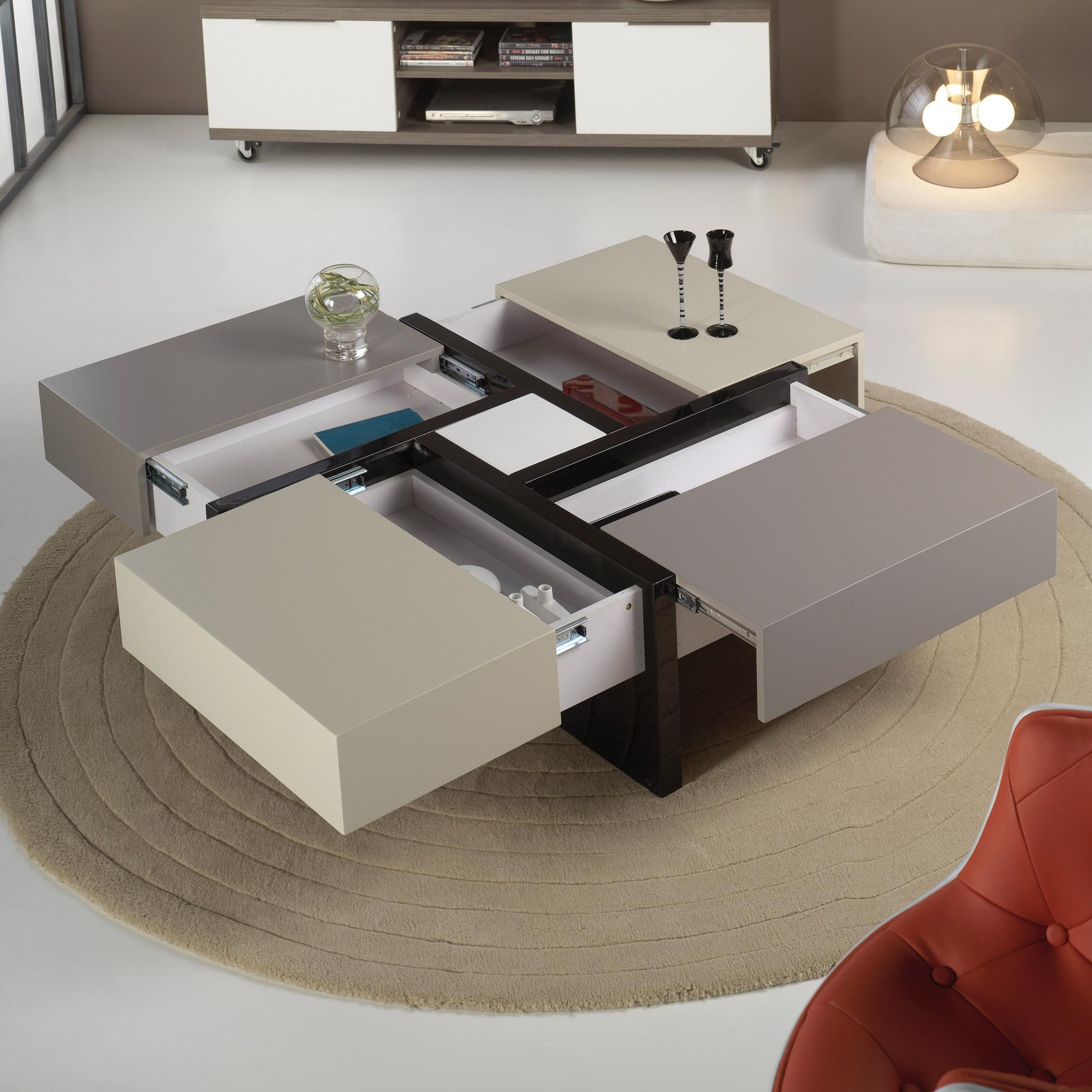 Table basse avec rangement design