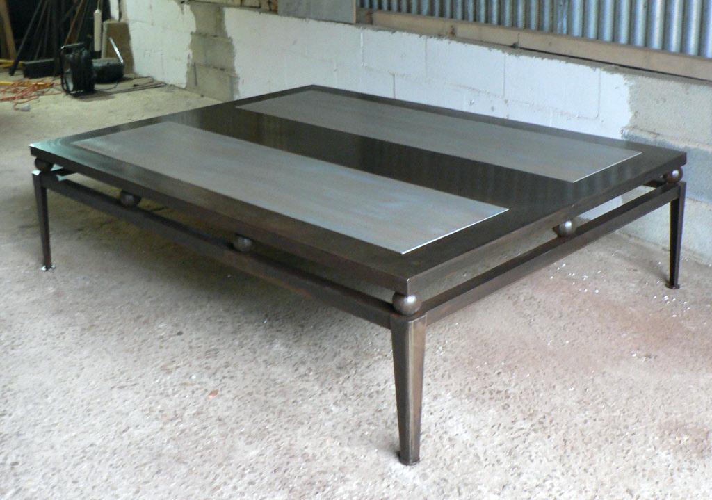 Table basse ronde acier filaire bangor
