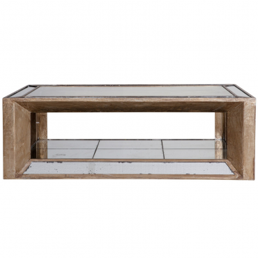 Table basse marbre flamant