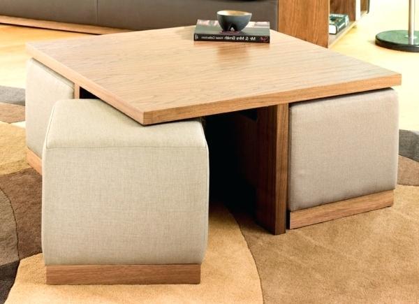Table basse ronde avec pouf encastrable - Maison et meuble ...