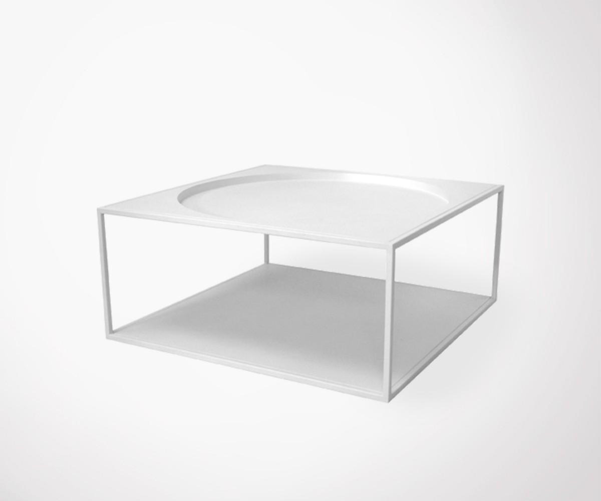 Table basse industrielle blanc