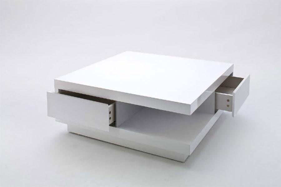 Table basse carrée avec tiroir