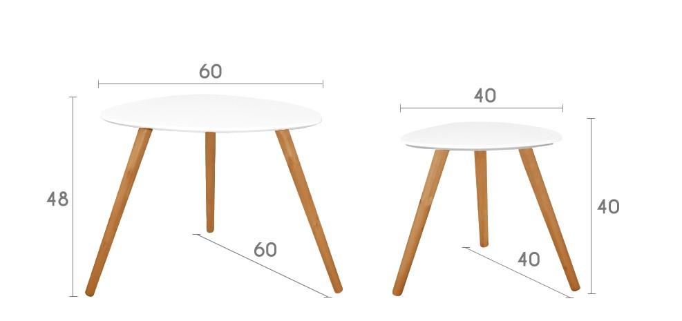 Table basse gigogne blanc