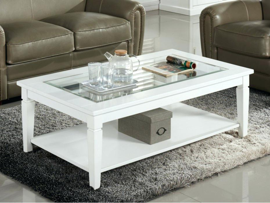 Table basse blanche rectangulaire la redoute