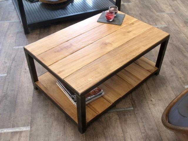 Table basse industrielle pinterest