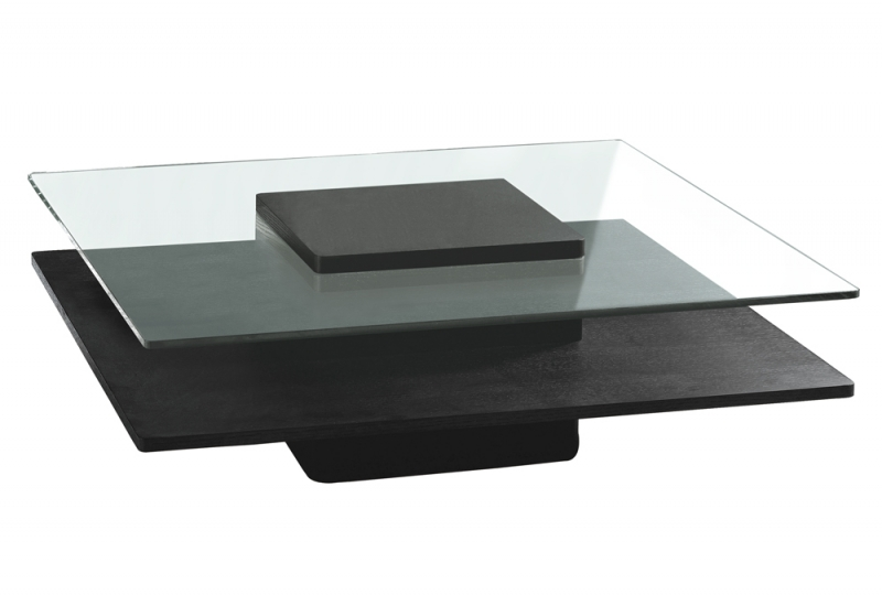 Table basse carrée en verre but