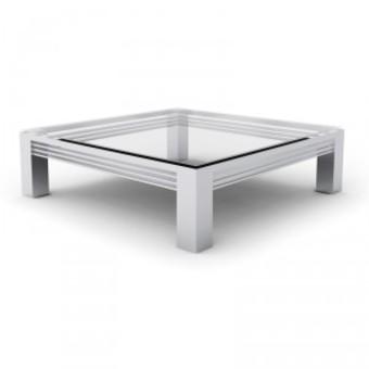Table basse carrée acier