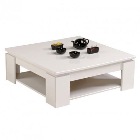 Table basse carrée bois blanc