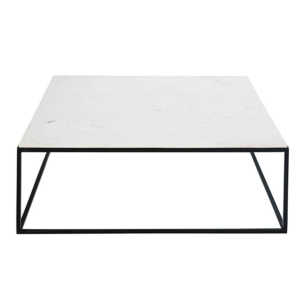 Table basse carrée blanc