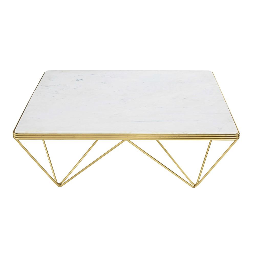 Table basse marbre et metal