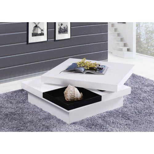 Table basse carrée en bois