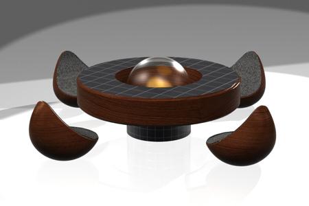 Recherche table basse avec pouf