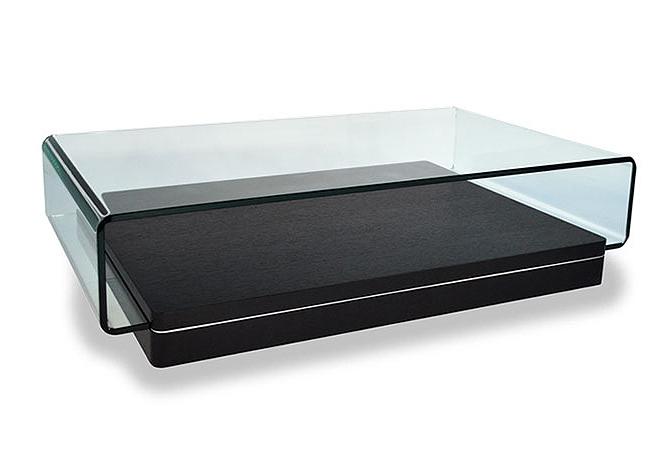 Table basse wengé verre trempé