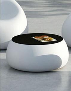 Table basse ronde avec rangement bouteille - Maison et meuble de maison