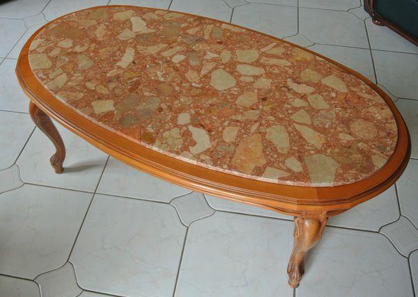 Merisier Meuble Et Basse Table De Plateau Marbre Maison ZiXuPk
