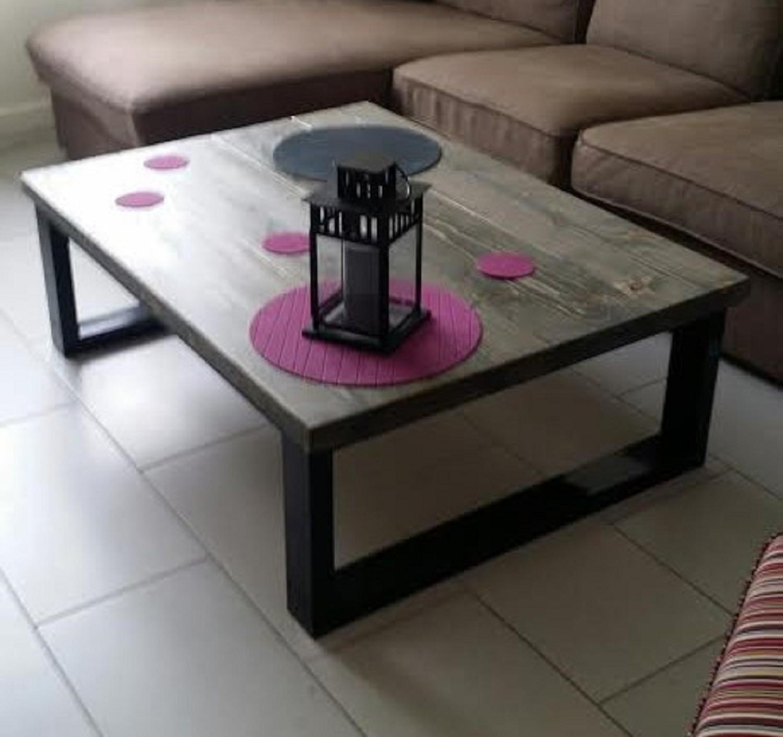 Table basse facon industrielle