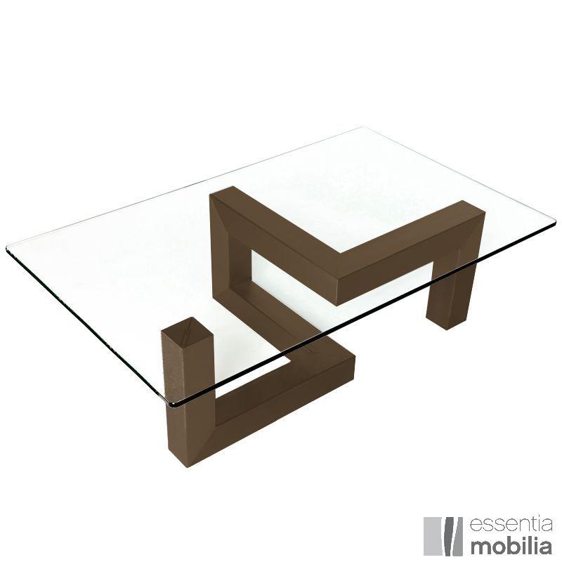 Table basse en verre et bois design