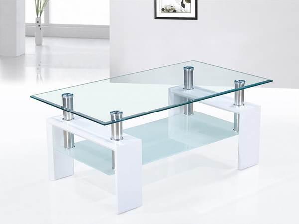 Table basse en verre laqué noir