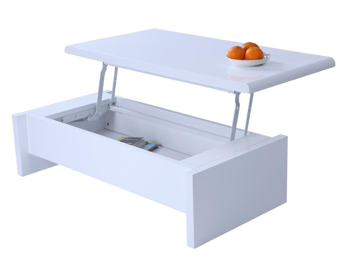 Table basse avec coffre rangement
