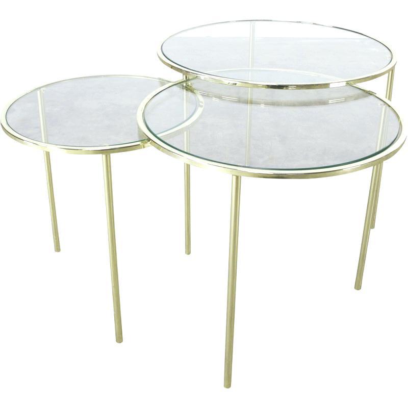 Table basse gigogne verre fly maison et meuble de maison - Table basse gigogne verre ...