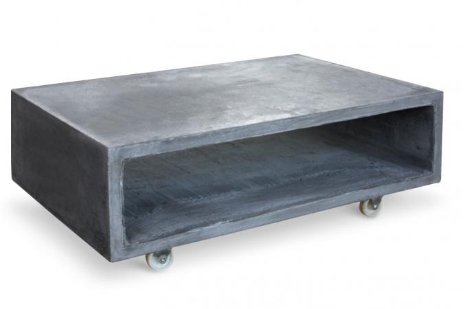 Table basse industrielle grise