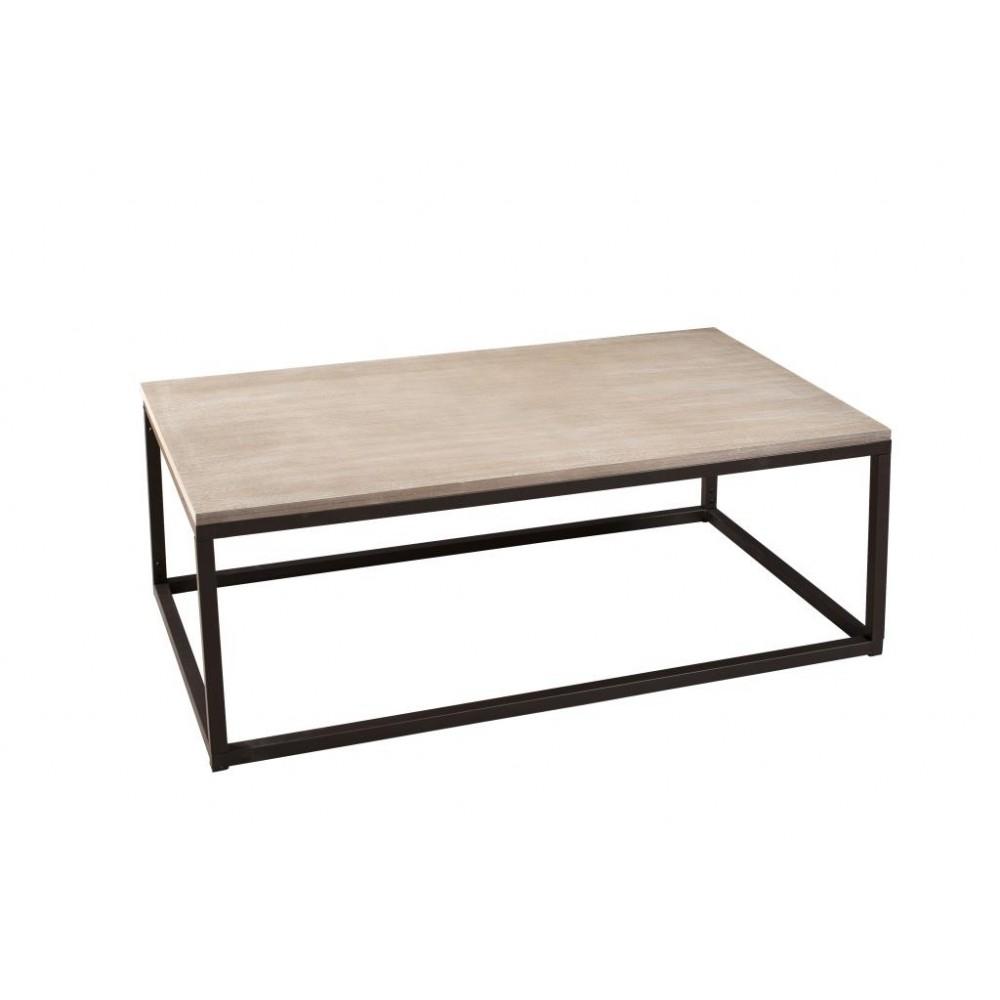 Table basse industrielle a roulette