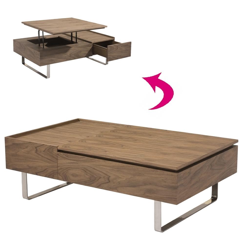 Table basse avec rangement bois