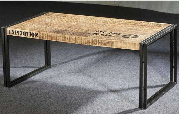 Table basse industrielle relevable