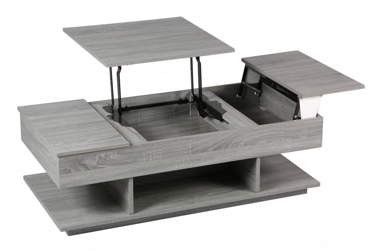 Table basse extensible avec rangement