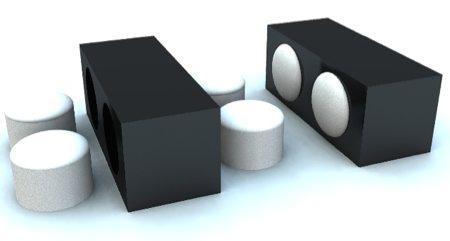 Table basse avec pouf intégré