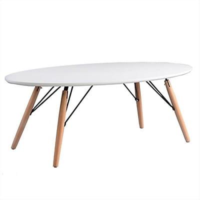Table basse ovale blanche alinea