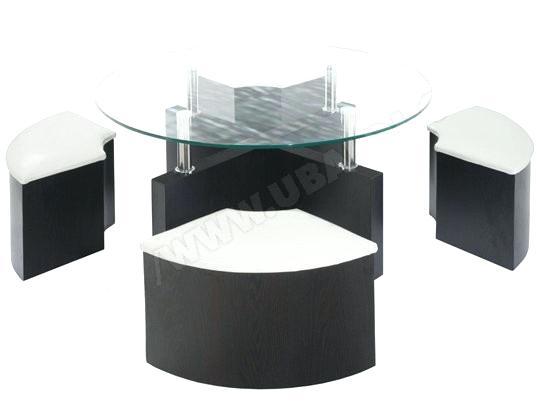 Table basse avec pouf conforama