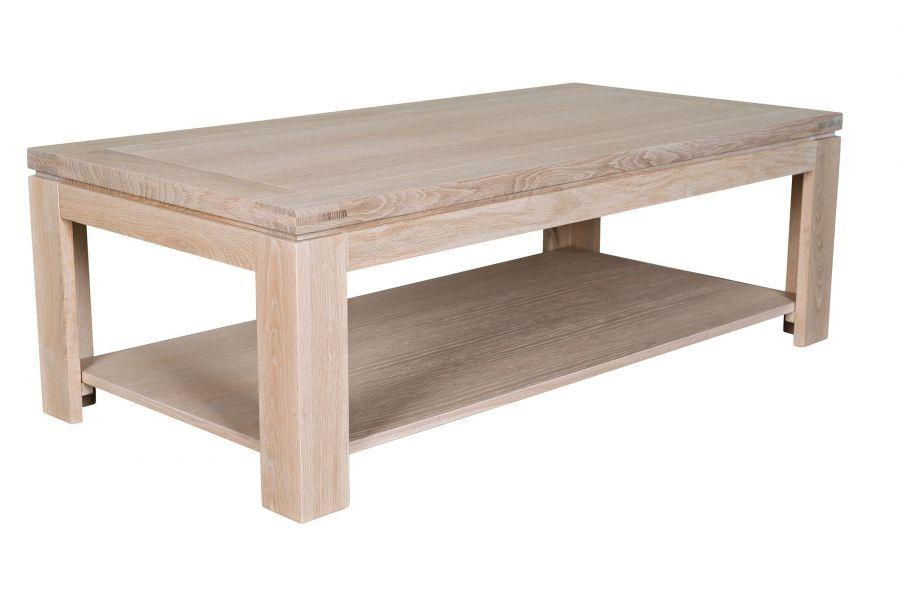 Table basse carrée bois avec tiroir