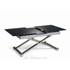 Table basse en verre transformable
