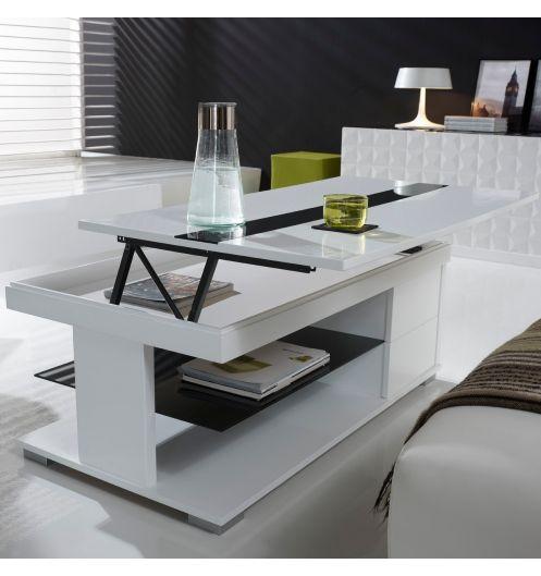 Table basse multifonction avec rangement