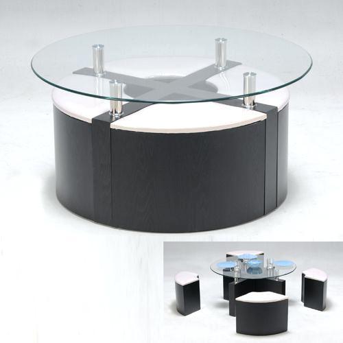 table basse ronde avec pouf conforama maison et meuble. Black Bedroom Furniture Sets. Home Design Ideas