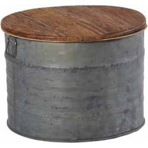 Table basse ronde en zinc
