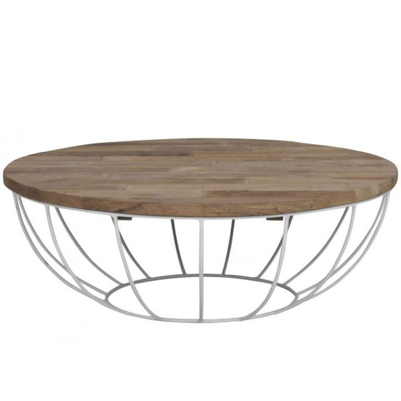 Table basse ronde fer