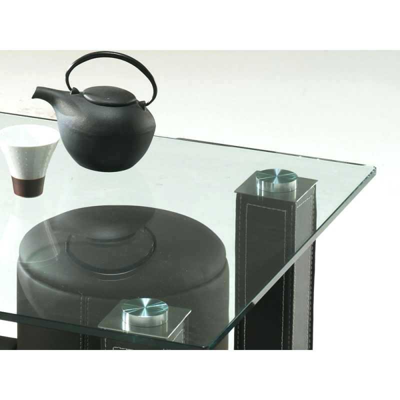 Table basse en forme de s avec pouf