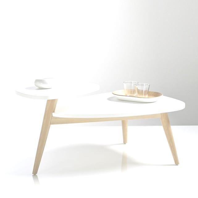 Table basse vintage double plateau jimi blanc