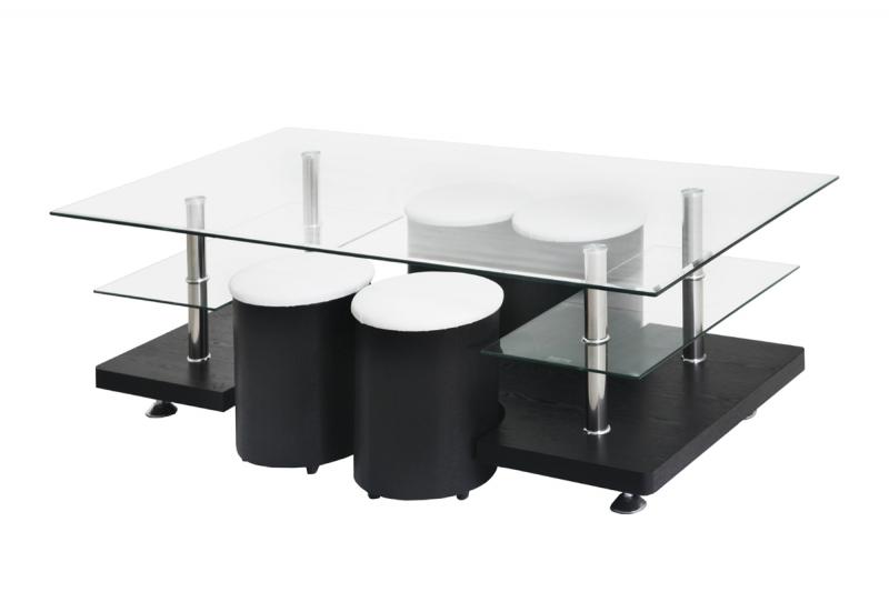 Table basse avec poufs 4