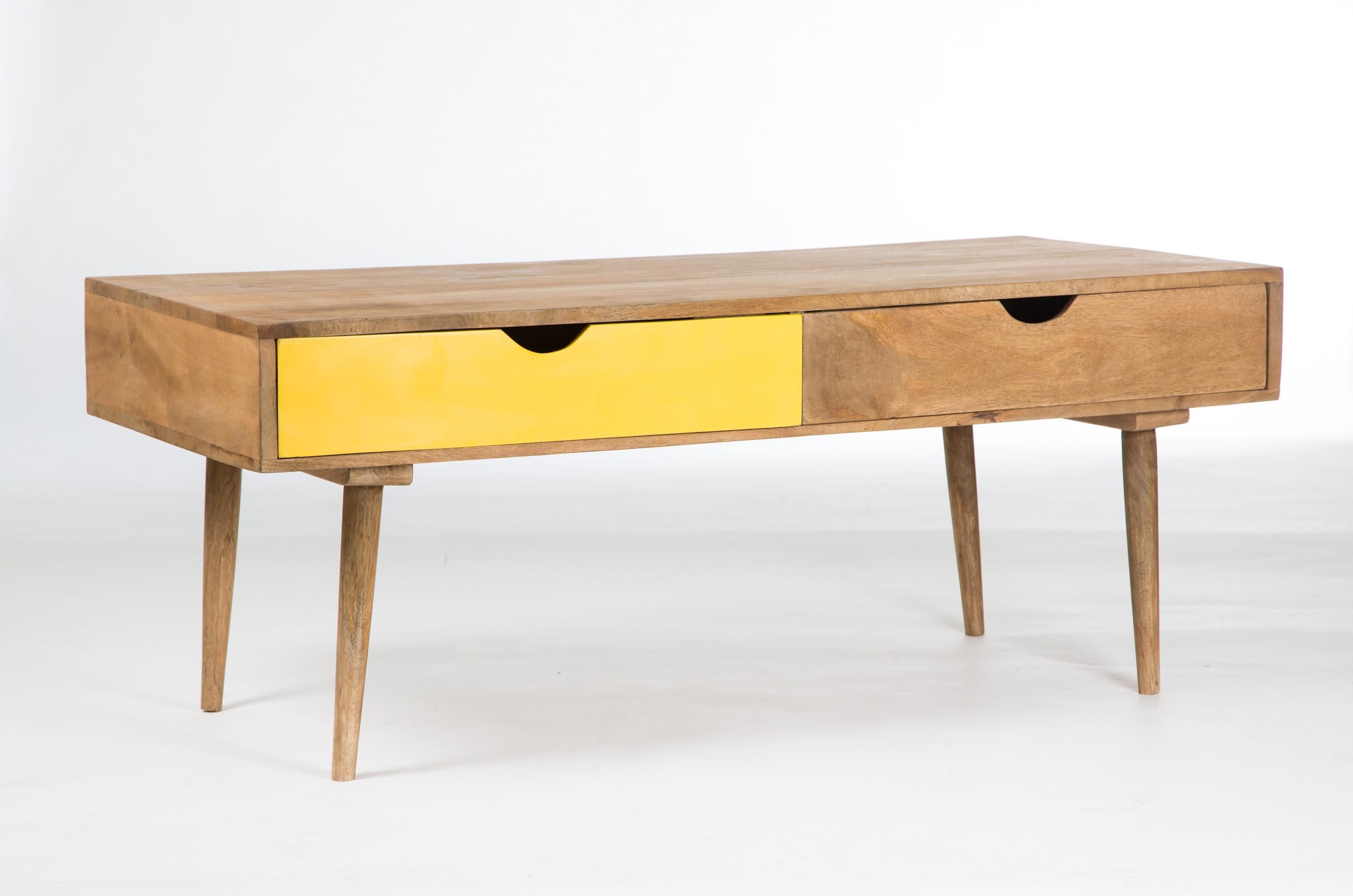 Table basse vintage bordeaux