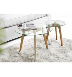 Table basse en verre scandinave