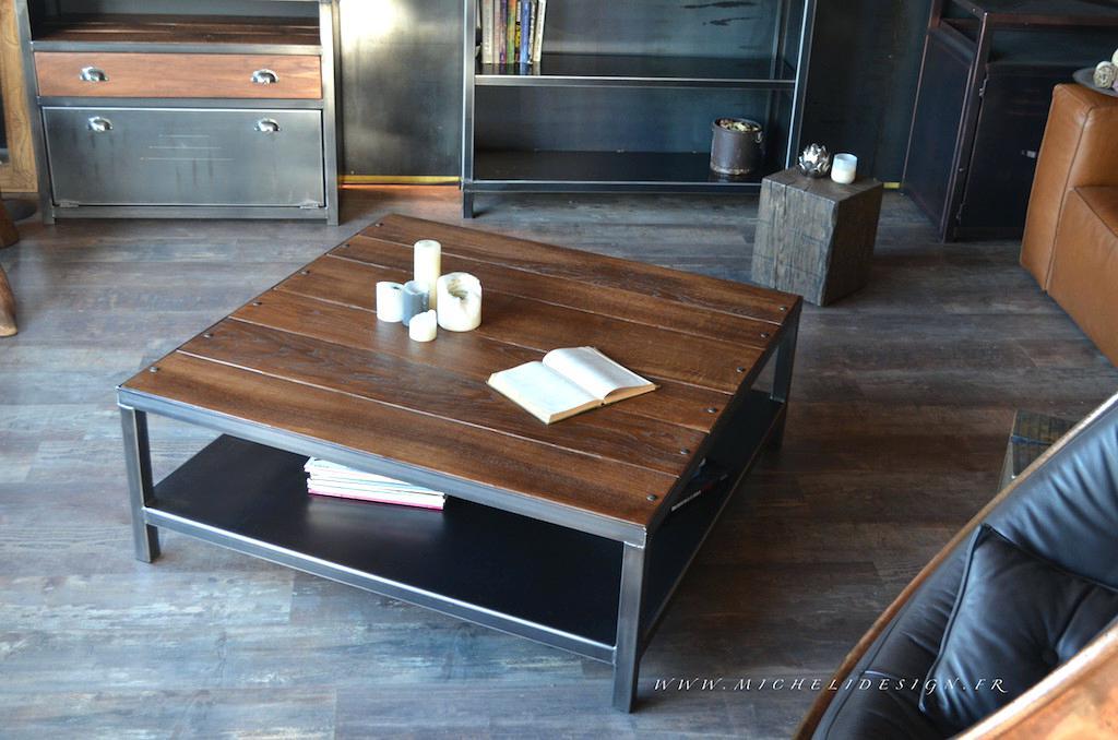 Table basse industrielle ebay