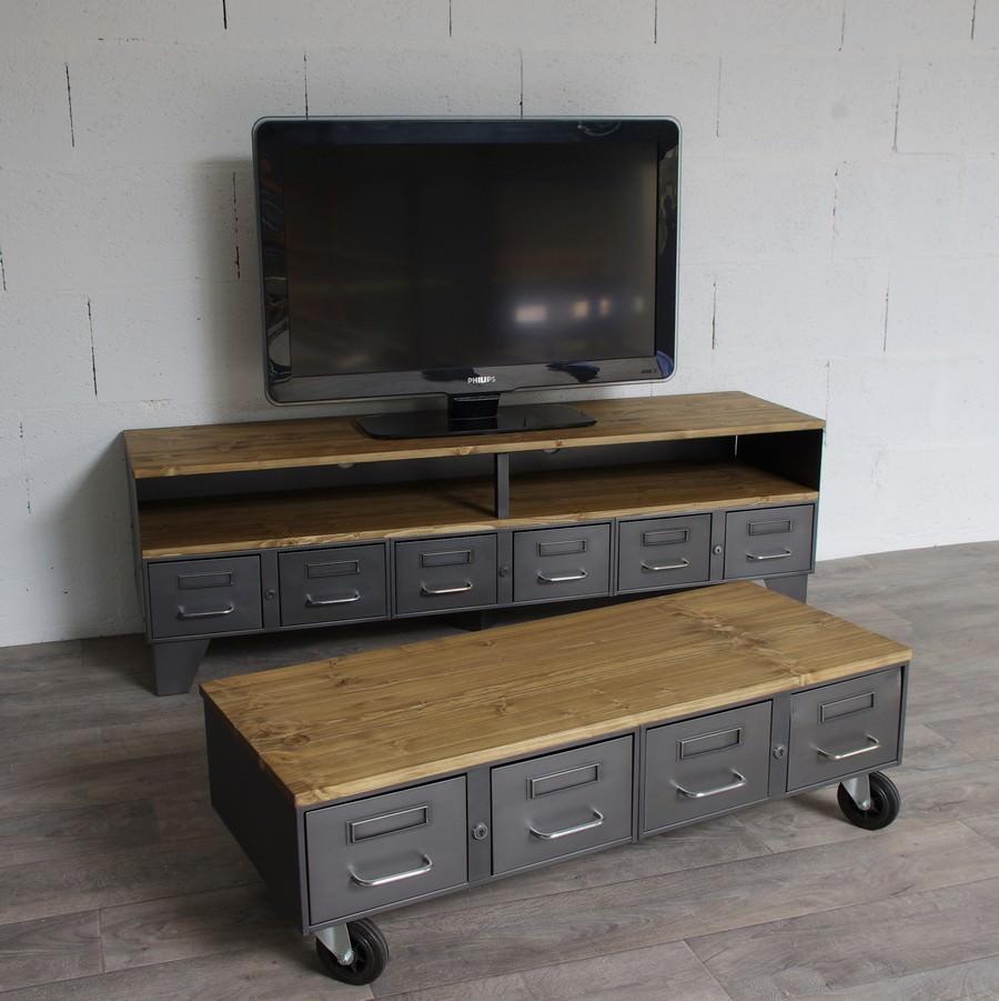 Table basse bar industriel
