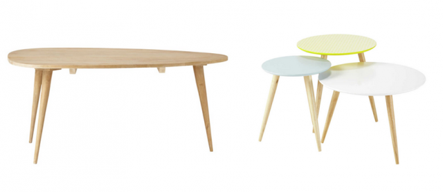 Table basse gigogne haricot maison et meuble de maison - Table basse en bois pas cher ...