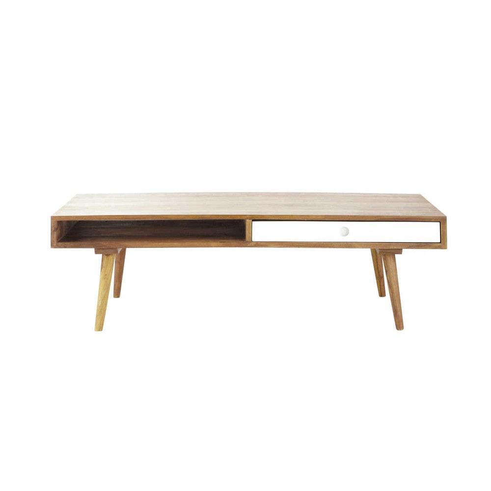 Table basse retro bois