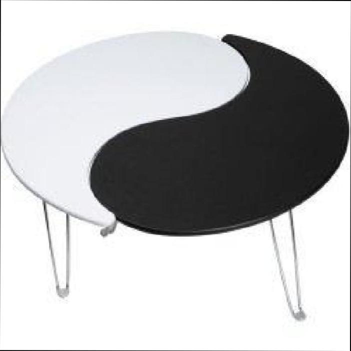 Table basse ronde ying yang