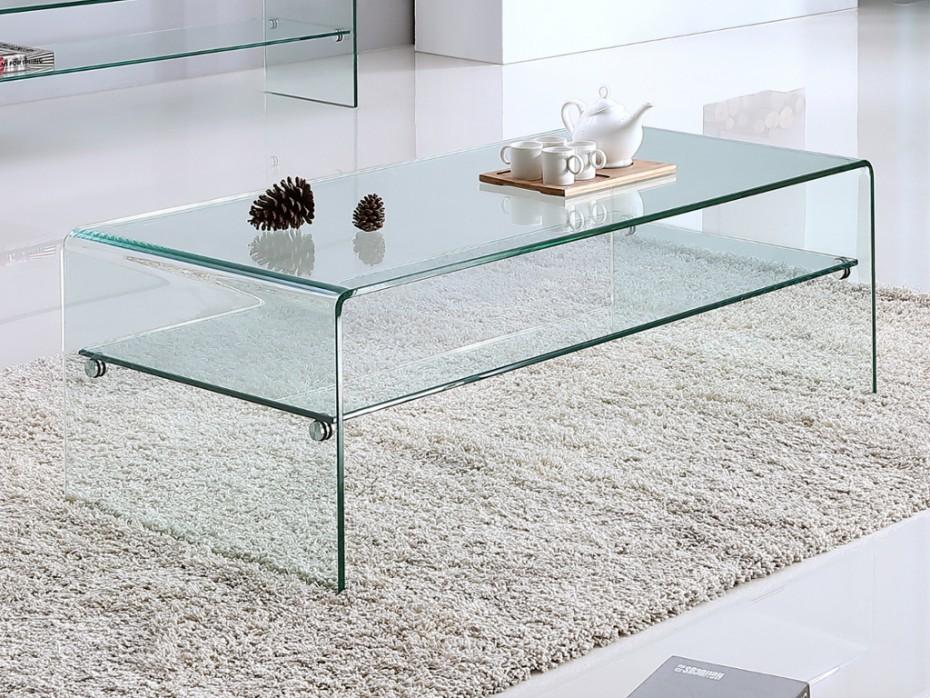Table basse en verre kelly